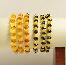 Lot 6 wholesale Genuine Baltic amber bracelet - multi size style TA-2129