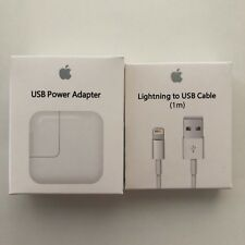 Apple iPhone 5, 6, 7, 8, X Lightning Cable 1M + 12W Adapter
