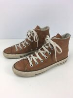 UNISEX CONVERSE ALL STAR CHUCK TAYLOR UK 5 BROWN LEATHER LACE UP HI TOP TRAINERS