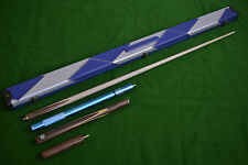 New 3/4 piece Handmade Ash Snooker/Pool Cue set W/ Case Extension Rosewood,TSC8