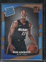 2017-18 Donruss Bam Adebayo Rookie RC #187 Miami Heat Rated Rookie