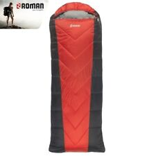 ROMAN SLEEPING BAG TRAVELLER HOOD TEMP 0.C RED & BLACK 220X80 cm