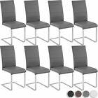8er Set Esszimmerstuhl Freischwinger Stuhl Set Stühle Polsterstuhl Schwingstuhl