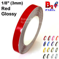 "1/8"" Vinyl Pinstriping Pinstripe Soild Line Tape Decal Sticker 3mm Red Glossy"