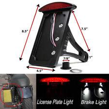 """Motorcycle Vertical 1"""" Side Mount Led License Plates Bracket Holder Brake Light(Fits: Mastiff)"""