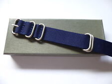 22mm Blue Zulu Watch Strap - Nato OTAN Strap - EU Shipping