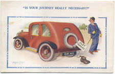 Comic Car Is your Journey really necessary OK42 Donald McGill