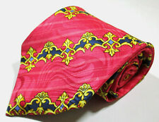 Gianni Versace Striped Pink Color Jacquard Silk Necktie Tie Made In Italy