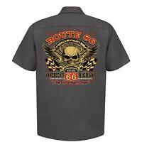 Hotrod 58 Hot Rod Garage Work Shirt Red Kap Vintage Rockabilly Biker Rat Car 07