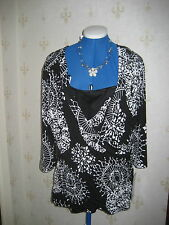 Stunning Black / White Joseph Ribkoff Top UK Sz18 BNWT £197