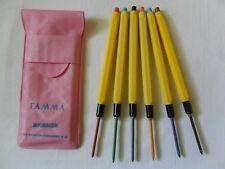 Set of 6 Vintage Soviet USSR Colored Mechanical Pencils KIMEK Original Case