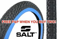 Pitch Raw A SALT 20 x 2.25 PNEUMATICO BMX SNAKE BELLY nero con Blue Muro enorme RISPARMIO