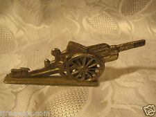 Metal Toy Cannon Military Figure 1940's vintage