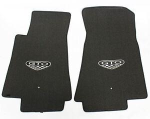 NEW! FLOOR MATS 2005-2006 PONTIAC GTO CREST Embroidered Logo Carpet Set of 2