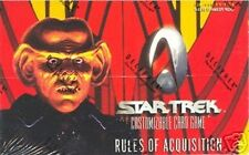 STAR TREK CCG : RULES OF ACQUISITION SEALED BOOSTER BOX