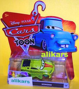 T - KOMODO - #14 Disney Cars Toons Tokyo Mater's Tall Tales Toon autos diecast