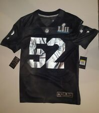 Nike Super Bowl LII 52 Limited Edition Jersey Black Silver Men s Size S d6ffa1f09