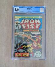 Iron Fist #1 ~ CGC 8.0 Claremont & Bryne Iron Fist Battles Iron Man