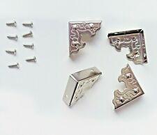 20 x 2.5cm Antik Metallecken Schutzecken Kantenschutz Kinderschutz Schutzpolster