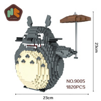 Balody HC Magic Block Totoro Hayao Miyazaki Diamond Building Toy Gift Collection