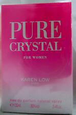 KAREN LOW PURE CRYSTAL PARIS 3.4 OZ / 100 ML EAU DE PARFUME NIB WOMEN SPRAY