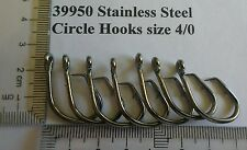 50 X 4/0  STAINLESS STEEL quality chemically sharpened circle hooks