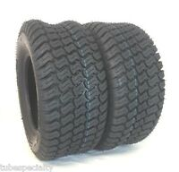 TWO 15X6.00-6 Trac Turf Lawn 15X6-6 4 Ply Rated Lawn Mower Set Two Tires 15 6 6