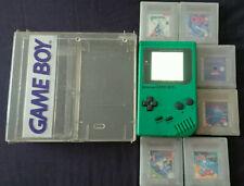Game Boy Classic Play it Loud Edition grün mit Backlight MOD, OVP und 6 Spielen
