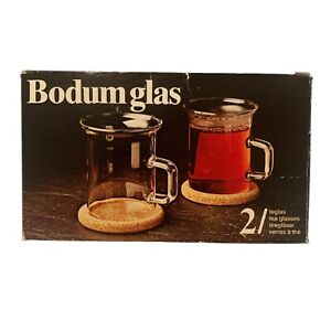Bodum Sugar Bowl Glass Glas Basin And Creamer Jug Glass in Box #4002