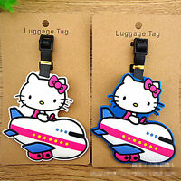 Cute Hellokitty  Silicone Luggage Tags ID Card Holder Case  AA-C60WB