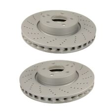 Front Brake Disc Rotors x2 Zimmermann for Mercedes-Benz W204 W212 08-16