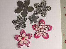 Craft Die Fleur cartes, scrap booking. Royaume-Uni vendeur