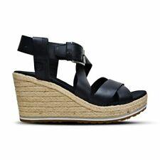 Zapatos De Cuero señoras Sandalias Timberland Costa agradable, Cuñas Verano Negro A1MTE