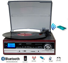 ODC17BT Bluetooth  Record Player Turntable with  AM FM Radio USB NEW