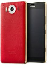 Mozo Microsoft Lumia 950 Qi Wireless Charging Back Cover Case with NFC -Red/Gold