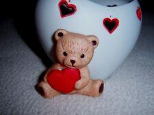 Teddy Bear and Hearts Tea Light CandleHolder by Hallmark