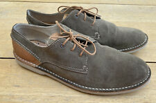 CLARKS HINTON FLY KHAKI SUEDE SHOES MENS SIZE UK 12