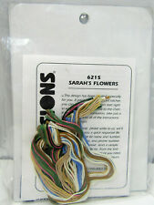 """New 1998 Dimensions Gallery Crewel Sarah's Flowers Embroidery Kit #6215 5"""" x 7"""""""