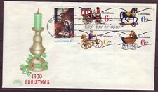 1414a, 1415-1418a Fdc, 1970 Precancelled issues, $30 cat. value.