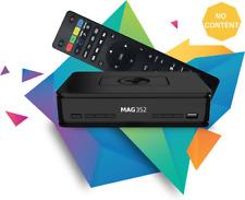 Mag 351/352 Set Top Box IPTV LINUX 4K UHD HEVC-intégré Wifi et Bluetooth