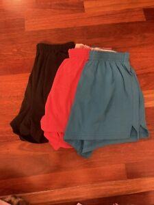 Soffe Athletic Shorts Lot of 3 Junior Knit Elastic Waist PullOn Yoga Cheer Large