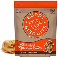 Buddy Biscuits Peanut Butter 6 oz | Soft and Chewy Treats for Dogs | All Natural