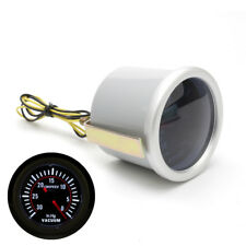 2inch Universal Analog Car LED Vacuum Gauge 30-0 In. HG Meter w/ Hose Smoke Lens