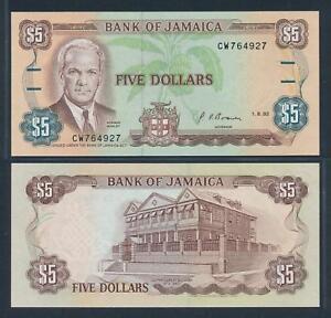 [74237] Jamaica 1992 5 Dollars Bank Note UNC P70d