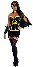 Sexy Batgirl Costume Superhero Fancy Dress Halloween No Mask Included  Size 6