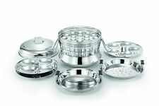 Stainless Steel Steamers and Idli Maker , Silver