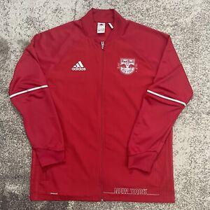Adidas MLS New York Red Bulls Soccer Windbreaker Jacket Mens XL