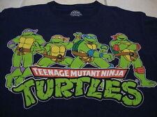 TMNT Teenage Mutant Ninja Turtles Action Hero Comic Book TV Show Blue T Shirt M