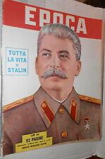 EPOCA 14 marzo 1953 Morte e successione di Stalin Cecile Aubry Mussolini Flotta