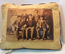 Butch Cassidy Cassidy Hole in Wall Gang leather  pillow western